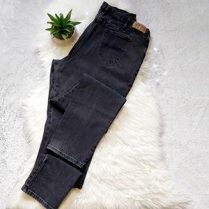 Vintage Riders High Rise Jeans Washed Black Denim